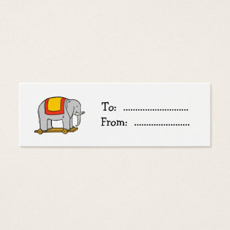 Vintage Toy Elephant Custom Gift Tag Business Card