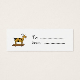 Vintage Toy Goat Custom Gift Tag Business Card