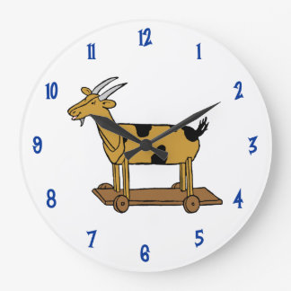 Vintage Toy Goat Pull Toy Wall Clock