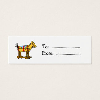 Vintage Toy Horse Custom Gift Tag Business Card