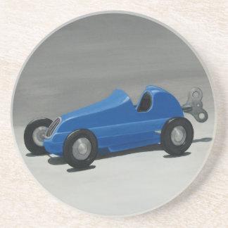 Vintage Toy Race Car - Premium Sandstone Coaster