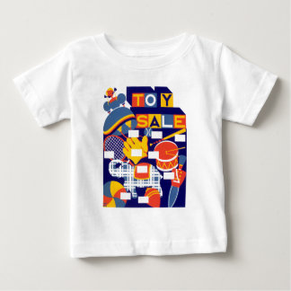 Vintage Toy Sale Artwork Baby T-Shirt