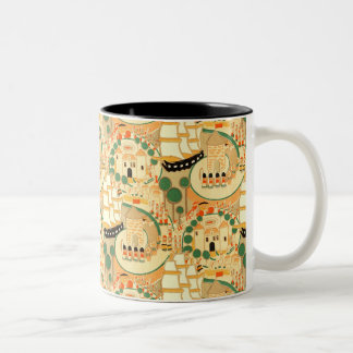 Vintage Toy Soldiers Castles and Ships Two-Tone Coffee Mug
