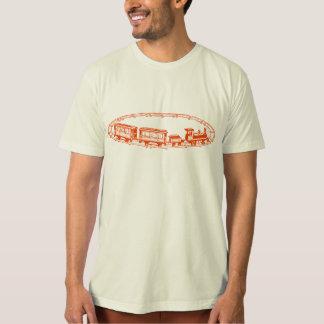 Vintage Toy Train, orange Shirt