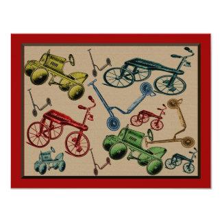 """Vintage Toys 4.25"""" X 5.5"""" Invitation Card"""