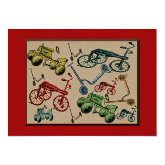 Vintage Toys 4.5x6.25 Paper Invitation Card
