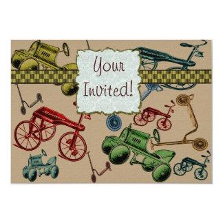 Vintage Toys 5x7 Paper Invitation Card