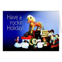 Vintage Toys Rockin' Holiday Card