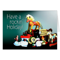 Vintage Toys Rockin' Holiday Christmas Card