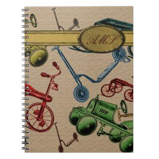Vintage Toys Spiral Notebook