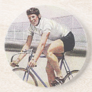 Vintage Track Cyclist Coaster