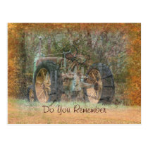 Vintage Tractor Blank Postcard- any occasion Postcard