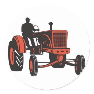 Vintage Tractor Classic Round Sticker