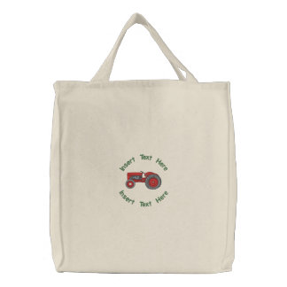 Vintage Tractor Embroidered Bag