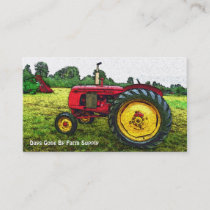 Vintage Tractor Farm Supply or Country Store Business Card