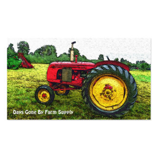 Vintage Tractor Farm Supply or Country Store Double-Sided Standard Business Cards (Pack Of 100)