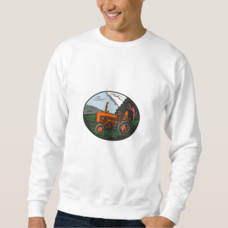Vintage Tractor Farm Woodcut Sweatshirt