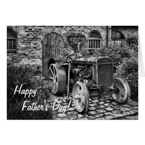 Vintage Tractor Father's Day card