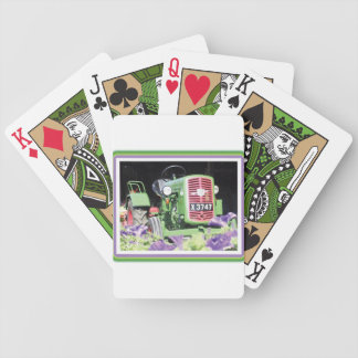 Vintage Tractor Flowers Bicycle Playing Cards