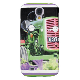 Vintage Tractor Flowers Galaxy S4 Case