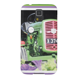 Vintage Tractor Flowers Case For Galaxy S5