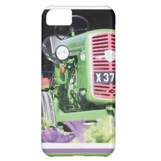 Vintage Tractor Flowers Cover For iPhone 5C