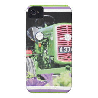 Vintage Tractor Flowers iPhone 4 Case