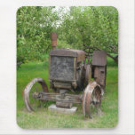 Vintage Tractor in Apple Orchard Mouse Pad