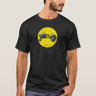 Vintage tractor ink drawing art tshirt