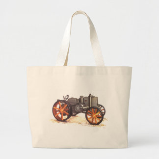 Vintage Tractor Jumbo Tote Bag