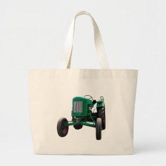 Vintage Tractor Large Tote Bag