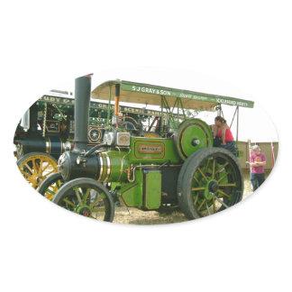 vintage tractor oval sticker