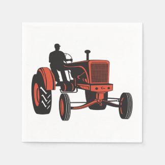 Vintage Tractor Paper Napkin