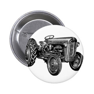 Vintage Tractor Pinback Button