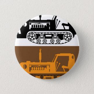 Vintage Tractor Pinback Button