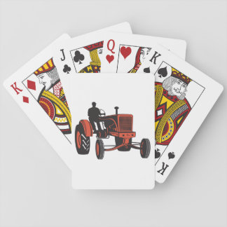 Vintage Tractor Playing Cards