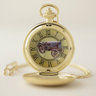 VINTAGE TRACTOR POCKET WATCH