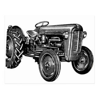 Vintage Tractor Post Cards