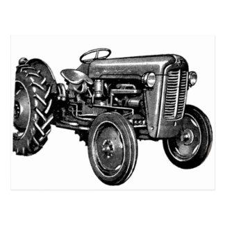 Vintage Tractor Postcard