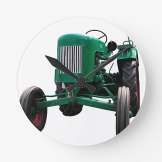 Vintage Tractor Round Clock
