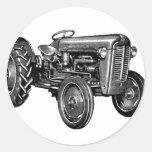 Vintage Tractor Round Sticker