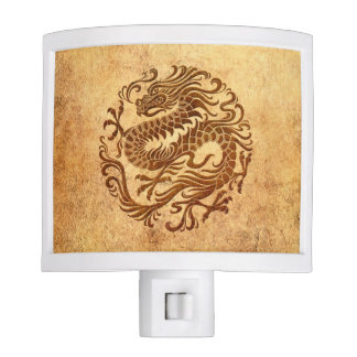 Vintage tradicional y círculo chino llevado del luces de noche