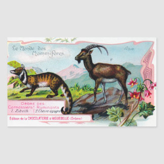 Vintage Trading Cards - Asian Animals Sticker