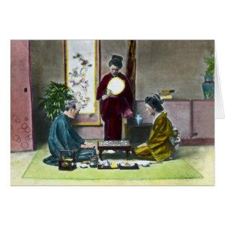 Vintage Traditional Japanese Mahjong 麻雀 Card