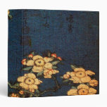 Vintage Traditional Japanese Paper Print 3 Ring Binder