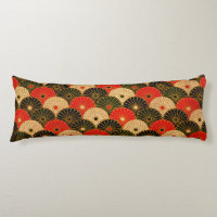 Vintage Traditional Japanese Paper Print Body Pillow