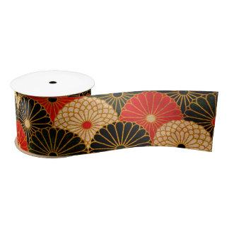 Vintage Traditional Japanese Paper Print Satin Ribbon