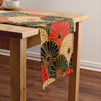 Vintage Traditional Japanese Paper Print Short Table Runner