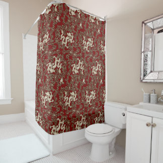 Vintage Traditional Japanese Paper Print Shower Curtain