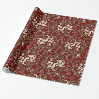 Vintage Traditional Japanese Paper Print Wrapping Paper